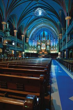 Basilique Notre-Dame de Montréal (Notre-Dame Basilica), was designed in 1824 by James O'Donnell. At the time of its completion, the Neo-Gothic structure was the largest church in North America.