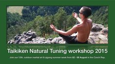 aikiken Natural Tuning 2015  Taikiken Natural Tuning week - Czech republic - Summer 2015 week from 02 - 08 August 2015  Taikiken is practical martial art, coordination and natural meditation in one.  Training in an ancient forest, using proven martial arts exercises, works on your selfness, to rediscover and strengthen your innate talents and abilities.  The workshop is for adults with a good general physical and mental condition and is suitable same for beginners as for the advanced.