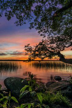 *Lake Sunset - Sørup, Denmark, by Frank Jensen...