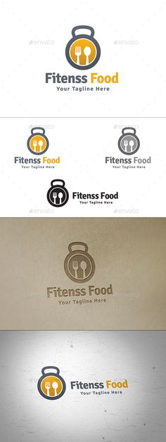 Fitness Food — Vector EPS #Kettle Bell #eat • Available here → https://graphicriver.net/item/fitness-food/14454555?ref=pxcr
