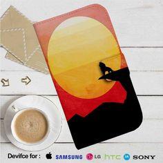 Disney The Lion King Silhouette Leather Wallet iPhone 4/4S 5S/C 6/6S Plus 7  Samsung Galaxy S4 S5 S6 S7 NOTE 3 4 5  LG G2 G3 G4  MOTOROLA MOTO X X2 NEXUS 6  SONY Z3 Z4 MINI  HTC ONE X M7 M8 M9 CASE