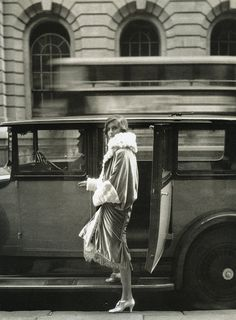 """Clothes and the Car..At the Theatre"", photo by Cecil Beaton for Vogue, 1927"