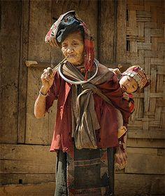Old #Akha (Iko) woman, northern Laos