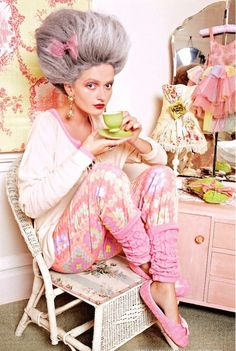 Marie Antoinette is a total fashion icon for me. I like to think of how she styled her odd french dresses. Gala Darling, Look At You, Big Hair, Every Girl, Pjs, Pyjamas, Editorial Fashion, Tea Time, Health And Beauty
