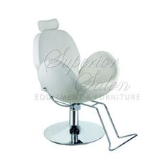 Superior Salon Equipment and Furniture $300. Hydraulic lift, reclining chair in egg shell. Holds 450 pounds. Perfect for make-up counter, quickie facials, and brow work.