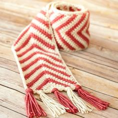 Chevron ripple scarf crochet pattern