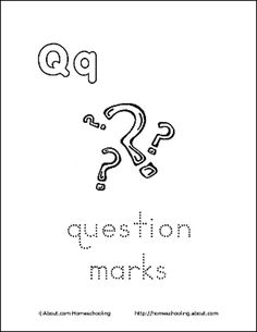 Letter Q Coloring Book - Free Printable Pages: Question Marks Coloring Page