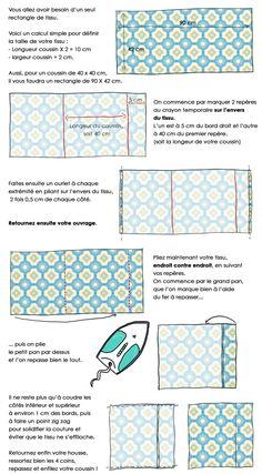 En dessin : confectionnez vous-même vos housses de coussins