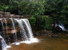 Kbal Chhay Waterfall is a waterfallapproximately 7 km from the city of Sihanoukville in south-west Cambodia