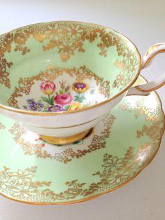 Vintage English Bone China Grosvenor Tea Cup by MariasFarmhouse