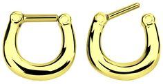 Nasenpiercing Ring Septum Clicker Gold 1,2 x 8 mm #septumclicker #piercing #nasenpiercing