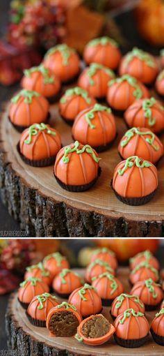 Pumpkin Bread Truffles - 14 Incomparable Thanksgiving Dessert Recipes…
