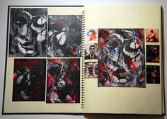 Paper Cuttings, Monoprints and Collagraphy: Exciting A Level Portraiture A Level Art Sketchbook, Sketchbook Layout, Sketchbook Inspiration, Art Sketches, Art Drawings, Notebook Sketches, Sketch Books, Summer Art Projects, Animal Design