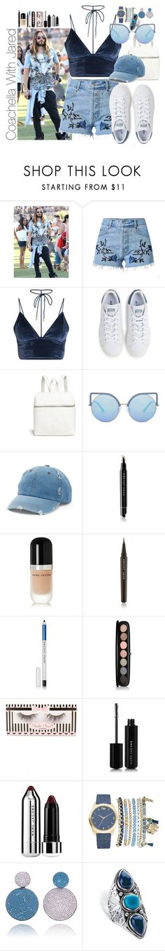 """""""Coachella With Jared"""" by barbarahs ❤ liked on Polyvore featuring Ray-Ban, adidas, Kara, Matthew Williamson, Mudd, Marc Jacobs, Violet Voss, Mixit, Palm Beach Jewelry and JaredLeto"""