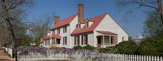 The St. George Tucker House in early Spring.  Colonial Williamsburg, Williamsburg Virginia.  Photo by David M. Doody.