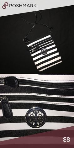 Selling this Black and white crossbody purse on Poshmark! My username is: amandaadams16. #shopmycloset #poshmark #fashion #shopping #style #forsale #Handbags