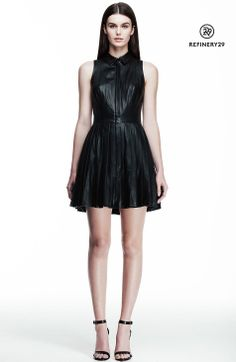 Leather Shirt Dress -  Armani Exchange