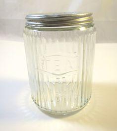 Vintage & Antiques - Community - Google+ Vintage Hoosier Tea Canister Ribbed Glass