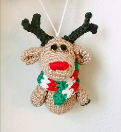Ravelry: Rudolph the Christmas Tree Ornament pattern by Recoverista