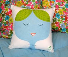 hand painted throw pillow by alidouglass on Etsy