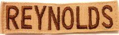 Military Name Tape - U S Army - Desert Storm - name REYNOLDS