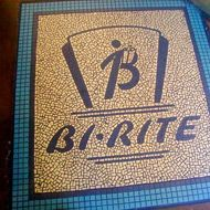 Logo in the floor tile.