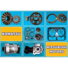 Komatsu, Cummins, Isuzu, Yanmar, Mitsubishi Spare Parts Mitsubishi Motors, Cummins, Spare Parts, Engine, Construction, Building, Motor Engine, Motorcycle