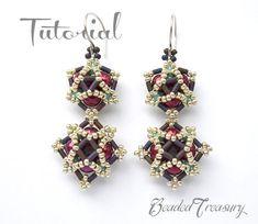 """Nebula"" beaded earrings pattern by BeadedTreasury"