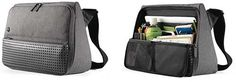 Evernote Triangle Commuter messenger bag. Very nice, organized, won't tip over, probably looks nicer and certainly more professional than my Timbuk2