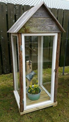 Old windows etc. Shutter Projects, Diy Lantern, Old Windows, Shutters, Project Ideas, Lanterns, Gazebo, Outdoors, Outdoor Structures