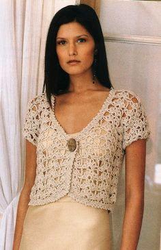 Ivelise Hand Made: Bolerinho En Crochet