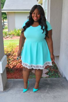 Musings of a Curvy Lady, Charlotte Russe Plus, Charlotte Russe, Monochrome, Aqua, Summer outfit, Women's Fashion, Plus Size Fashion.