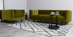 connor canape 3 places velours vert olive made com dark walls