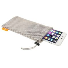 [$0.39] HAWEEL Nylon Mesh Pouch Bag with Stay Cord for iPhone 6 Plus & 6S Plus / 5.5 inch Mobile Phone, Size: 18.5cm x 9cm(Grey)
