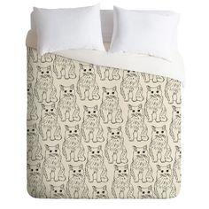 Allyson Johnson Cat Obsession Duvet Cover
