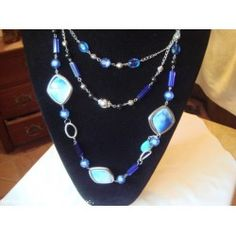 3 Layered Blue Necklace