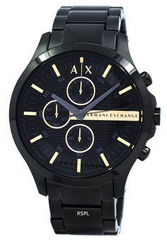 19c890bfa8 #Armani #Exchange Black PVD #Chronograph Quartz AX2164 Men's Watch  Stainless Steel Bracelet,