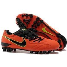 http://www.asneakers4u.com/ Nike Total 90 Laser IV AG Artificial Grass Total Orange and Black Nike T90 Football Shoes