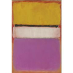 Mark Rothko - White center (yellow, pink and lavender on rose) - 1950