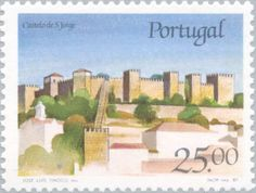 Sello: St Jorge Castle (Portugal) (Castles and Coat of arms of Portugal (6th group)) Mi:PT 1732,Sn:PT 1692,Afi:PT 1816