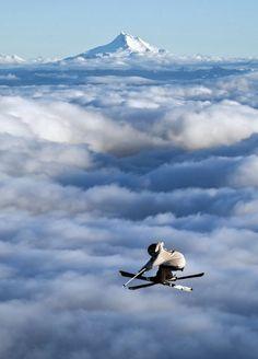 Take to the sky, big air skiing!