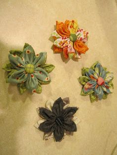 Two Crafty Critters: Fabric Hair Flower Tutorial