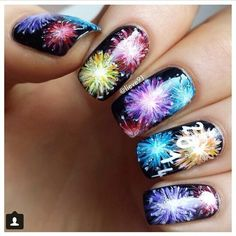 Fireworks nail art cute nail ideas lazy girl nail art ideas new years fireworks nails if only i was talented enough to do this prinsesfo Gallery