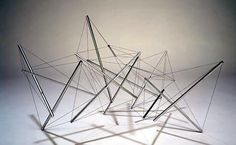 Mara Terry II, Ed. 4 aluminum & stainless steel 34 x 73 x 46 inches 86 x 185 x 117 cm School Architecture, Sustainable Architecture, Architecture Design, Monuments, Structural Model, Architecture Concept Diagram, Temporary Structures, Small Sculptures, Steel Structure