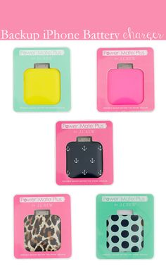 Backup iPhone Battery Charger - a collection by collegeprepster