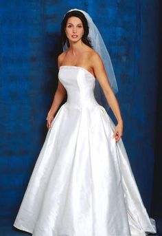 A Line Princess Strapless Chapel Train  wedding dress for brides 2010 style(WDA1041)