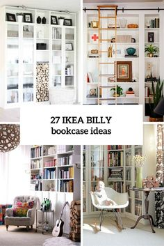 Billy Bookcase Design Ideas Beautiful 37 Awesome Ikea Billy Bookcases Ideas for Your Home Digsdigs Home Decor Hacks, Home Hacks, Diy Home Decor, Billi Regal, Libreria Billy Ikea, Hacks Ikea, Ikea Bookcase, Corner Bookshelves, Bookshelf Ideas