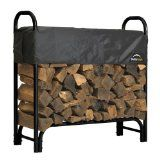 ShelterLogic Firewood Rack 4 ft x 4 ft Powder Coated Black Finish w/ 2 Way Adjustable Polyester Cover. The ShelterLogic 4 ft. Firewood Rack with Cover has an open design that provides excellent ventilation for seasoning your firewood. Outdoor Firewood Rack, Firewood Holder, Cheap Firewood, Wood Storage Rack, Firewood Storage, Rv Storage, Firewood Rack Plans, Porch Storage, Storage Sheds