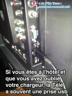 L'astuce pour recharger un téléphone sans chargeur à l'hotel