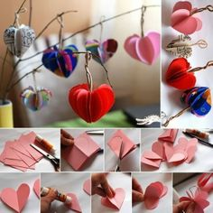 DIY 3D Heart Garland